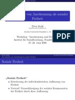 """Präsentation """"Drei Modelle von Anerkennung als sozialer Freiheit"""""""