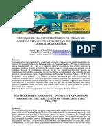 SERVIÇOS DE TRANSPORTE PÚBLICO NA CIDADE DE CAMPINA GRANDE/PB