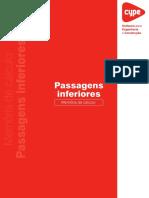 Passagens Inferiores - Memoria de Calculo - 2009