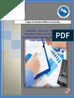 Manual Trámite Inscripcion, Actualizacion y Desinscripcion de Despachos de Contadores Publicos