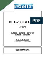 DLT-200 Serie UPS User Manual
