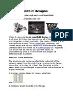 Turbo Manifold Designs by Engine Basics