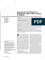 Development and Duration of Radiographic Signs of Bone Healing in Children