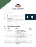 Course Outline COP Paper 5 - Health