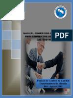 Manual Sugerido de Politicas y Procedimientos de Control de Calidad NICC 1