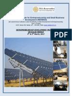 Edp on Solar Energy 4 Mar to 5 Mar Nagpur