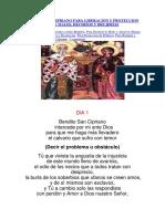 Novena de Las 7 Oraciones Misteriosas de SAN CIPRIANO y SANTA JUSTINA