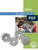 Welcome Back Site Administrators 2010