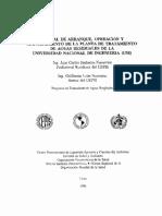 Indice Manual de Arranque, O y M PTAR