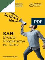 RAH! Events Programme - Feb – Mar 2018