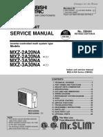 MITSUBISHI VRF MXZ-2A2_MXZ-3A30NA_Service_Manual_5-08-07