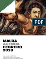 MALBA - Agenda Febrero 2018