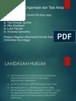 PPT Kelompok 3 Organisasi RS