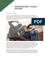 La Plaga Del Feminicidio y El País Después Del Papa