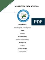 Tarea 1 de Metodologia de La Inves Yajaira