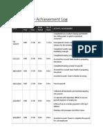 daily activity achievement log