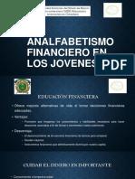 Analfabetismo Financiero en Los Jovenes
