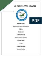 Tarea 3 y 4 de Metodlogia de La InvestigACION YEJAIRA