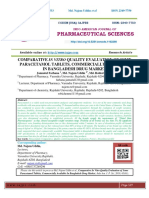 COMPARATIVE IN VITRO QUALITY EVALUATION OF SOME PARACETAMOL TABLETS, COMMERCIALLY AVAILABLE IN BANGLADESH DRUG MARKET