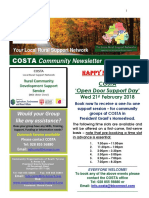 COSTA Newsletter - Jan 2018