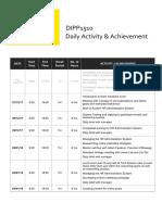 dipp1510 daily activity achievement log
