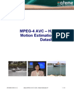 Ateme MPEG-4 AVC H264 Motion Estimation IP Datasheet