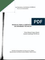 Manual Para Redaccion de Informes Técnicos