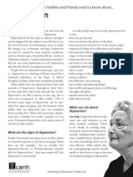 Older Adults and Depression (CAMH Brochure)