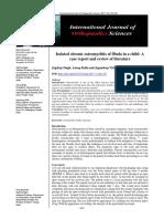 Isollated Chronic Osteomyelitis of Fibula in a Child