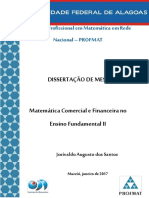 Matemática Comercial e Financeira No Ensino Fundamental II
