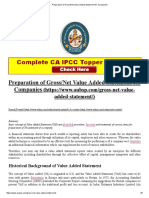 Preparation of Gross_Net Value Added Statement for Companies