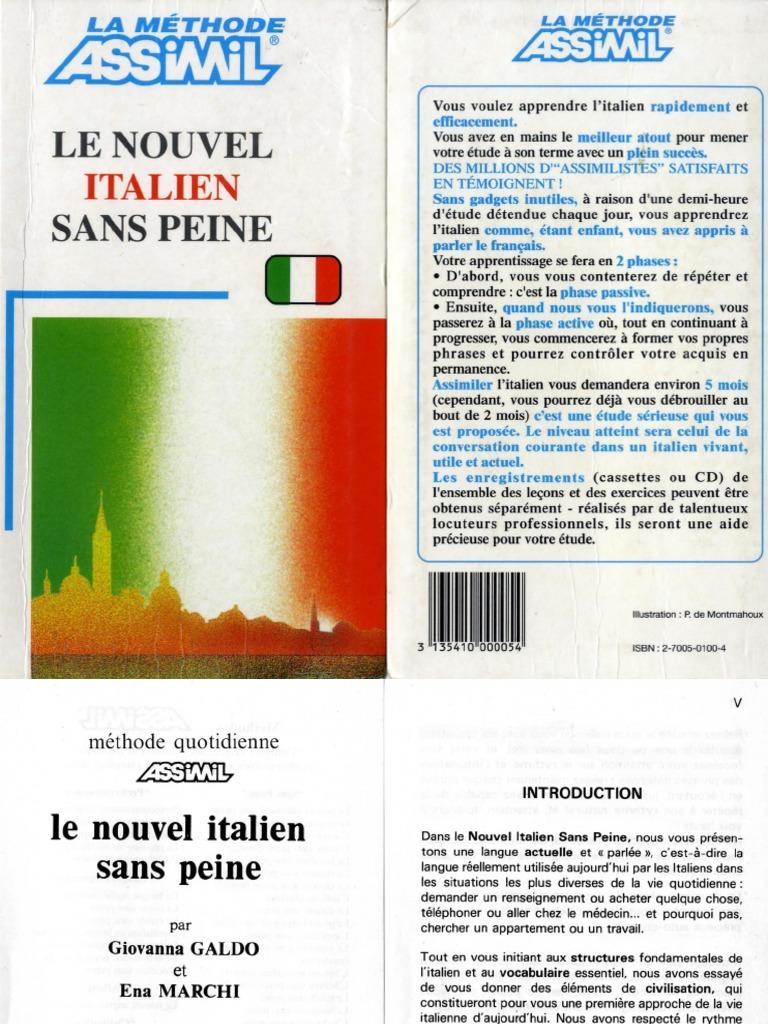 assimil italien sans peine pdf