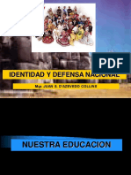 Identidad y Defensa Nacional