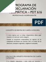 Programa de Declaración Telemática – Pdt 616