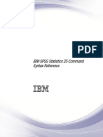 IBM SPSS Statistics 25 Command Syntax Reference