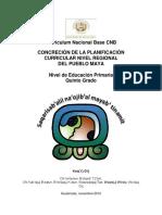 Concrecsion de La Planificacion Curricular Nivel Regional Del Pueblo Maya 5to Grado