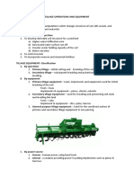 Tillage Operations and Equipment