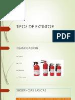 Tipos de Extintor