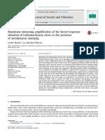 Máxima Amplificación de Sintonización de La Respuesta Forzada de La Vibración de Rotores de Turbomaquinaria en Presencia de Amortiguación Aerodinámica