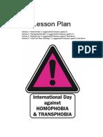 IDAHO Lesson Plan Homophobia