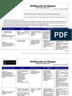 Notificación de Riesgos Area Operacional y Oficinas