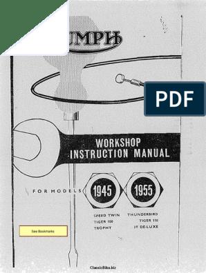 abiraha.ee TRUMPH TR5 Factory Workshop Manual et liste de pices ...