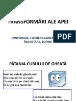 Transformari Ale Apei