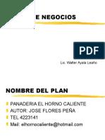 Ejemplo Deun Plan de Negocios