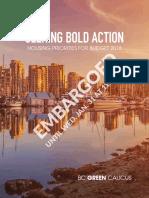 B.C. Green Party 2018 housing wish list
