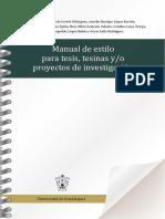 2015 - Manual de Estilo Para Tesis, Tesinas Y-o Proyectos de Investigación