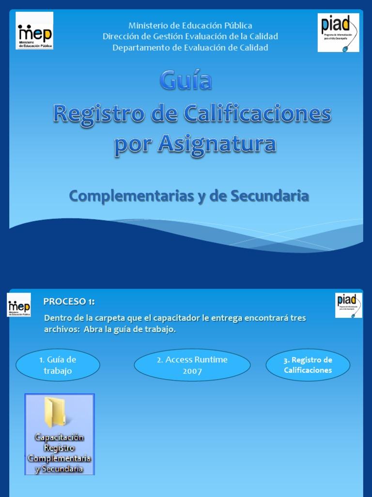 Guia Uso 2014 Registros Secundaria y Complementaria