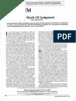 MM the Myth of Judgement Winter 1984