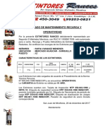 Certificado de Mantenimiento Recarga y