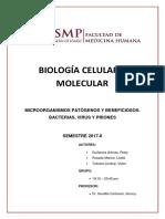 Seminario 3 Microorganismos Patógenos y Beneficiosos Bacterias Virus y Priones.
